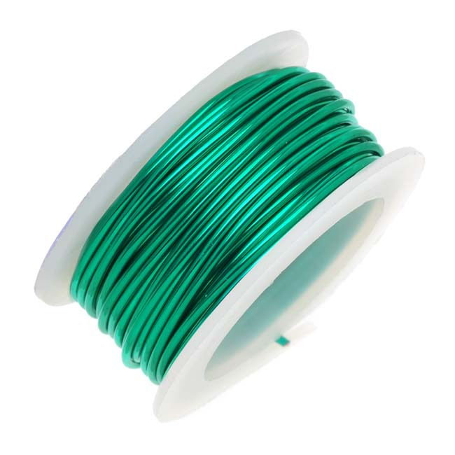 Artistic Wire, Silver Plated Craft Wire 22 Gauge Thick, 8 Yard Spool, Christmas Green
