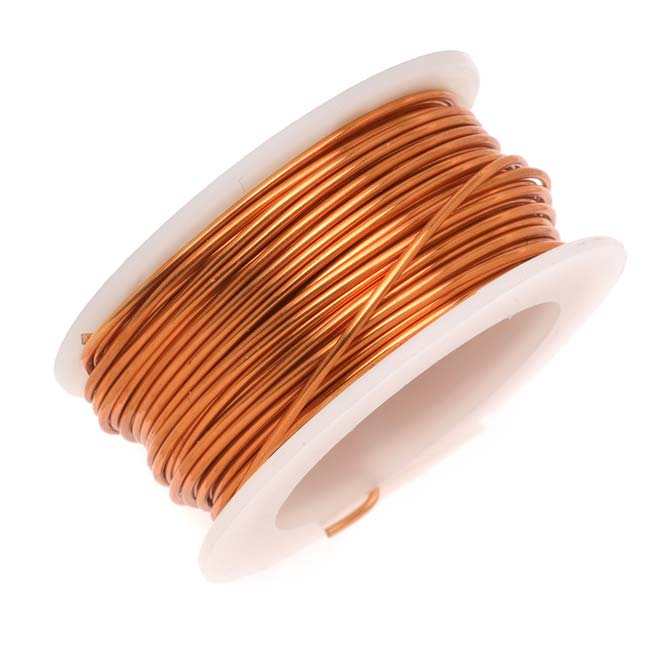 Artistic Wire, Copper Craft Wire 24 Gauge Thick, 10 Yard Spool, Tarnish Resistant Natural Copper