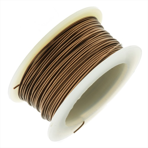 Artistic Wire, Copper Craft Wire 28 Gauge Thick, 15 Yard Spool, Antiqued Brass
