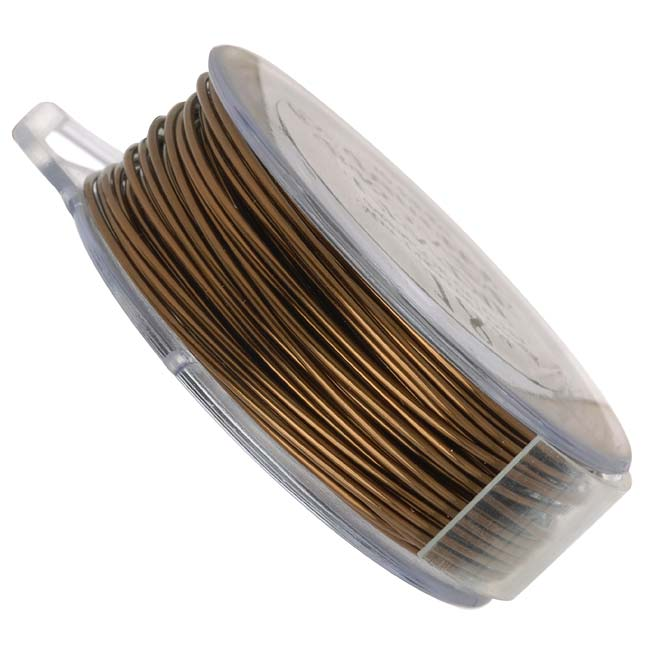Vintaj Brass Bronze Colored Copper Wire 24 Gauge 90 Feet (1 Spool)