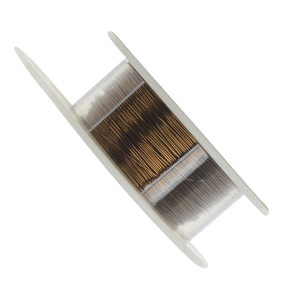 Vintaj Brass Bronze Colored Copper Wire 26 Gauge 120 Feet (1 Spool)