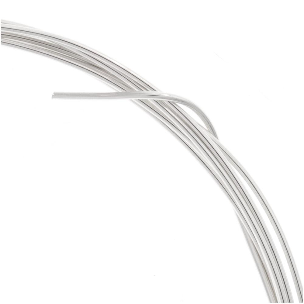 Sterling Silver Wire 21 Gauge Round Half Hard (5 Ft.)