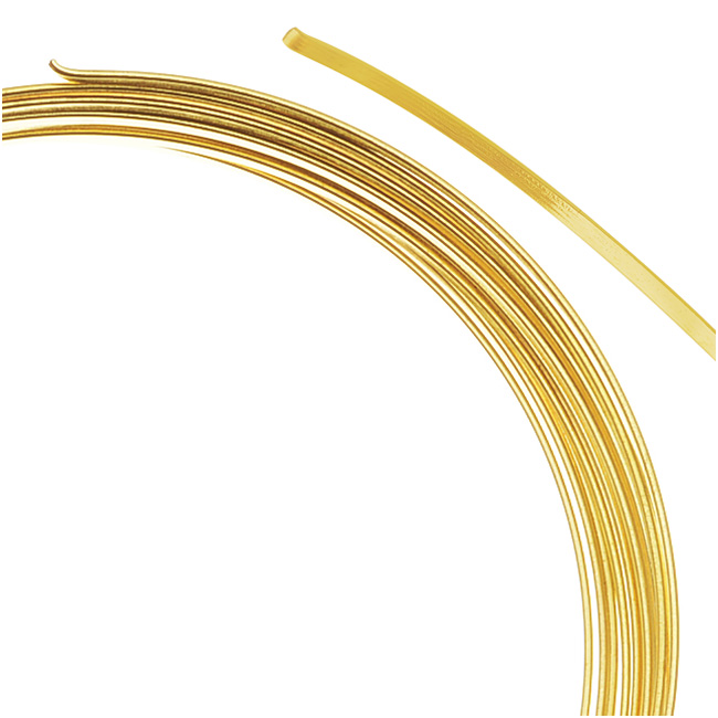 Beadalon Gold Plated Flat Bracelet Memory Wire 2.25 Inch Loops (12 Coils)