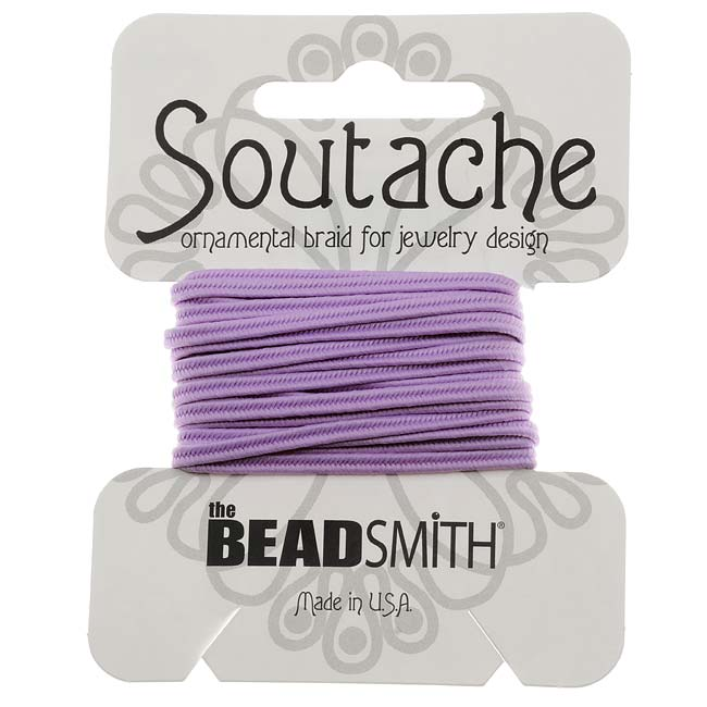 The Beadsmith Soutache Braided Cord 3mm Wide - Lilac Purple (3 Yards)