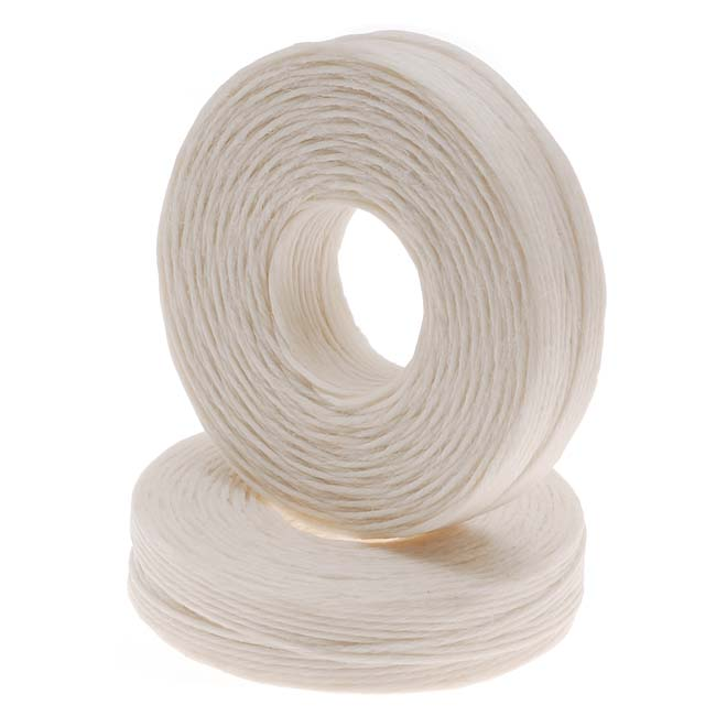 Waxed Irish Linen Necklace or Knotting Cord 1mm Natural Beige - 50 Yards