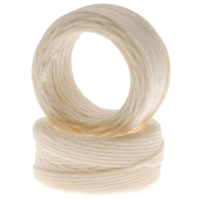 Waxed Irish Linen Necklace or Knotting Cord 1mm Natural Beige - 10 Yards