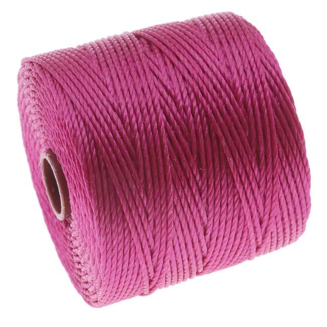 Super-Lon (S-Lon) Cord - Size 18 Twisted Nylon - Magenta / 77 Yard Spool