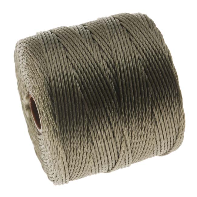 Super-Lon (S-Lon) Cord - Size 18 Twisted Nylon - Olive / 77 Yard Spool