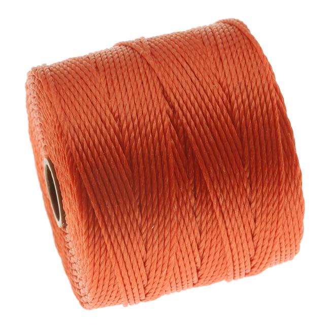 Super-Lon (S-Lon) Cord - Size 18 Twisted Nylon - Orange / 77 Yard Spool
