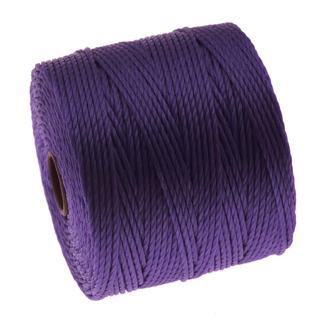 Super-Lon (S-Lon) Cord - Size 18 Twisted Nylon - Purple / 77 Yard Spool