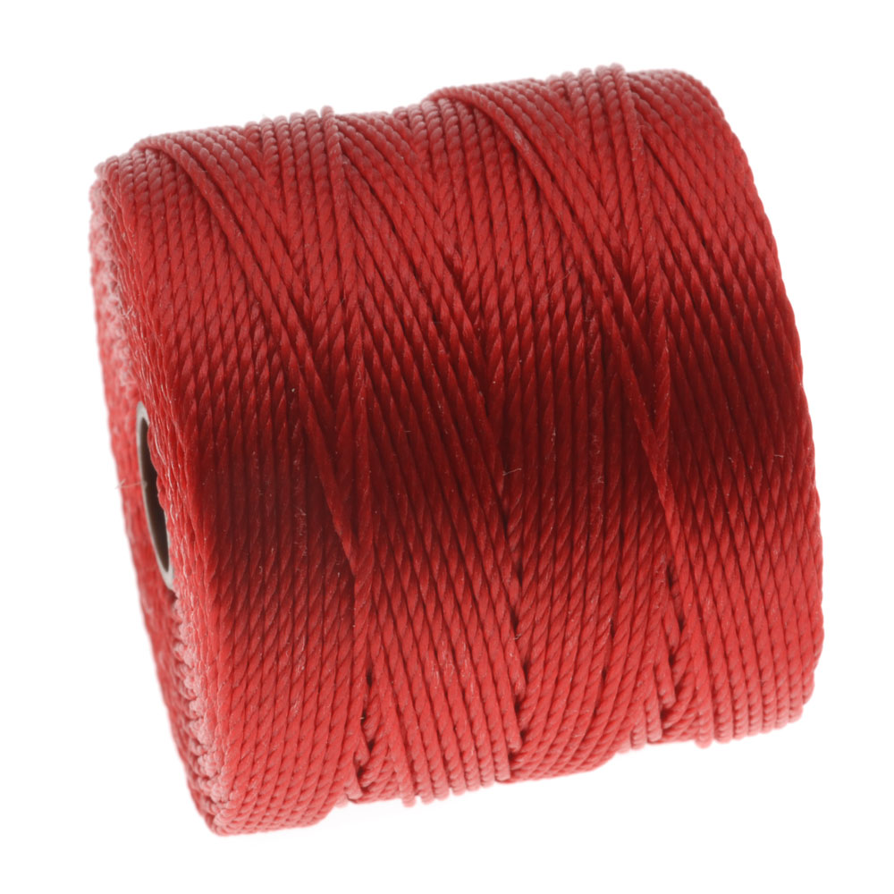 Super-Lon (S-Lon) Cord - Size 18 Twisted Nylon - Shanghai Red / 77 Yard Spool