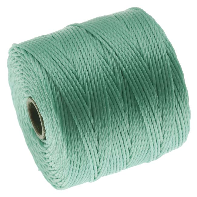 Super-Lon (S-Lon) Cord - Size 18 Twisted Nylon - Turquoise / 77 Yard Spool