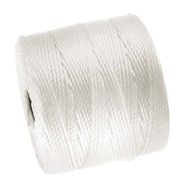 Super-Lon (S-Lon) Cord - Size 18 Twisted Nylon - White / 77 Yard Spool