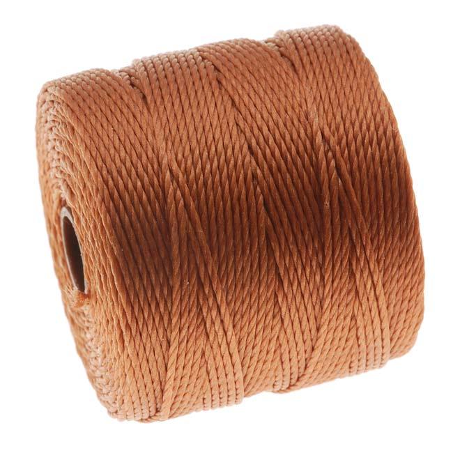 Super-Lon (S-Lon) Cord - Size 18 Twisted Nylon - Copper / 77 Yard Spool