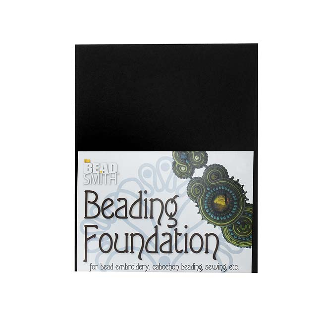 The Beadsmith Beading Foundation - For Embroidery Work - Black 5.5x4.25 Inches