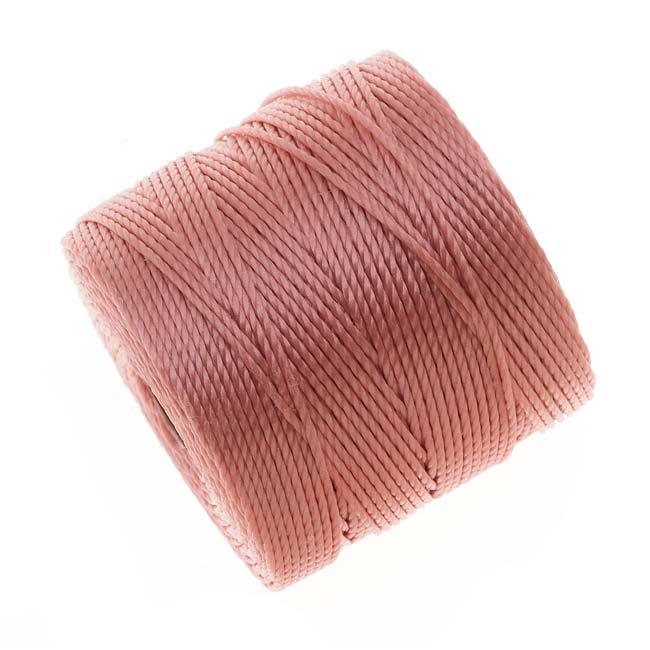 Super-Lon (S-Lon) Cord - Size #18 Twisted Nylon - Rose Pink / 77 Yard Spool