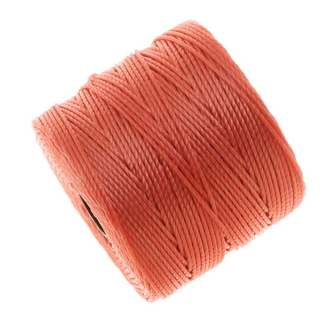 Super-Lon (S-Lon) Cord - Size #18 Twisted Nylon - Chinese Coral / 77 Yards