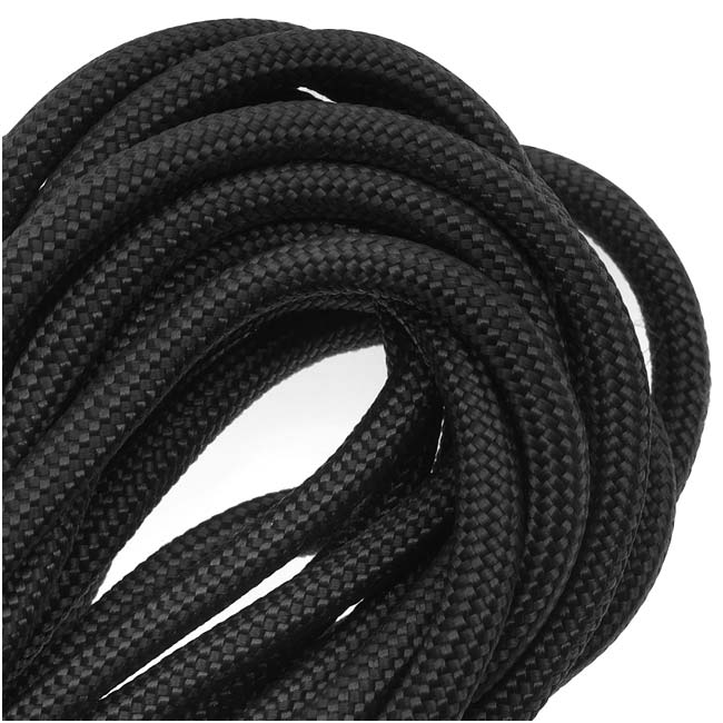 Paracord 550 / Nylon Parachute Cord 4mm - Black (16 Feet/4.8 Meters)