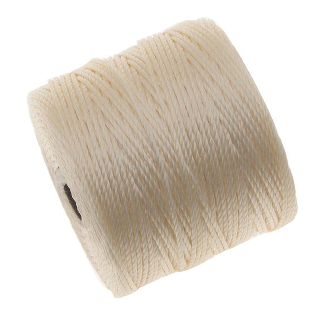 Super-Lon (S-Lon) Cord - Size #18 Twisted Nylon - Vanilla (77 Yard Spool)
