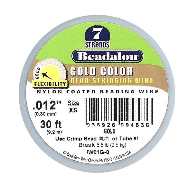 Beadalon Wire Gold Color 7 Strand .012 Inch / 30Ft