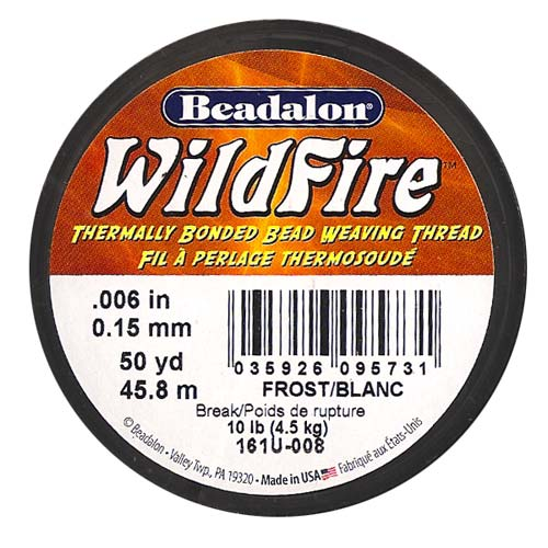 Wildfire Thermal Bonded Beading Thread .006 Inch - Frost / White- 50 Yd