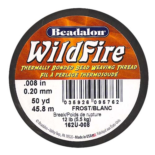 Wildfire Thermal Bonded Beading Thread .008 Inch - Frost / White- 50 Yd