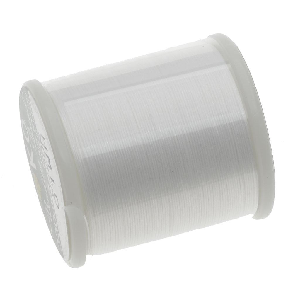 Japanese Nylon Beading K.O. Thread for Delica Beads - White 50 Meters