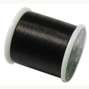 Japanese Nylon Beading K.O. Thread for Delica Beads - Black 50 Meters