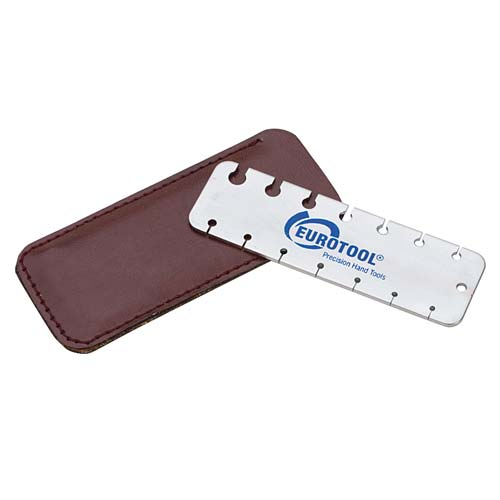 Eurotool Pocket Size Wire Gauge Tool Measures Wire or Sheet Metal
