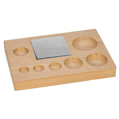 Eurotool Metalwork Deluxe 7 Hole Wood Block With Steel Block