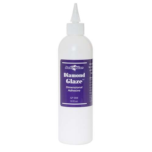 JudiKins Diamond Glaze Water Based Adhesive W/ Tip (8 Fl. Oz.)
