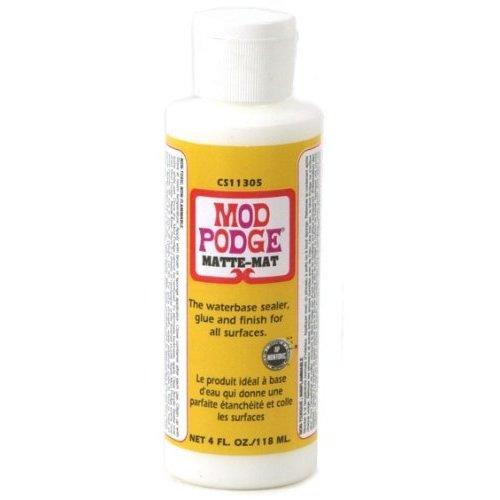 Mod Podge Matte All-In-One Decoupage Sealer / Glue / Finish (4 fl. oz. )