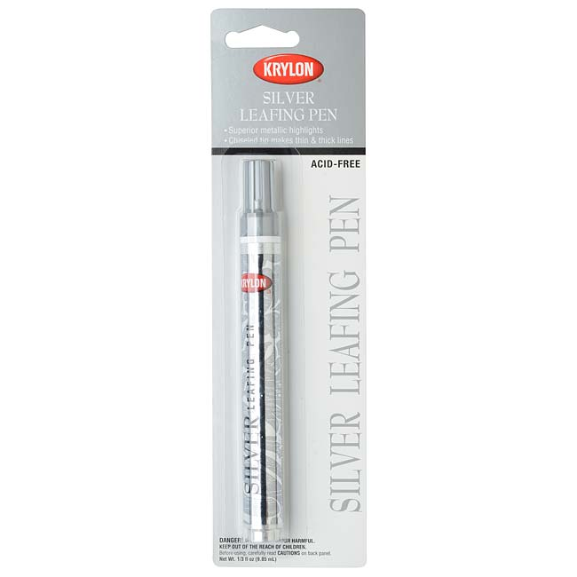 Krylon Acid-Free Leafing Pen - For Metallic Highlights - Silver (1 Pen)