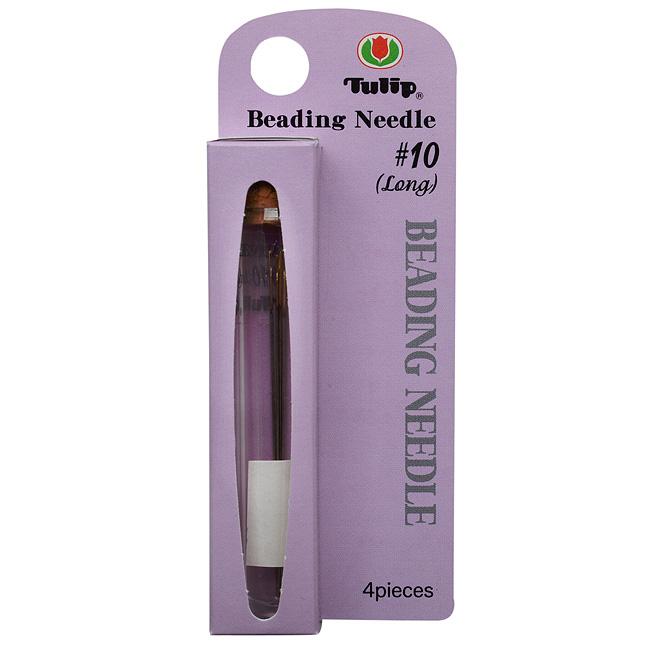 Tulip Beading Needles Size #10 (Long) 51x0.46mm - 4 Needles
