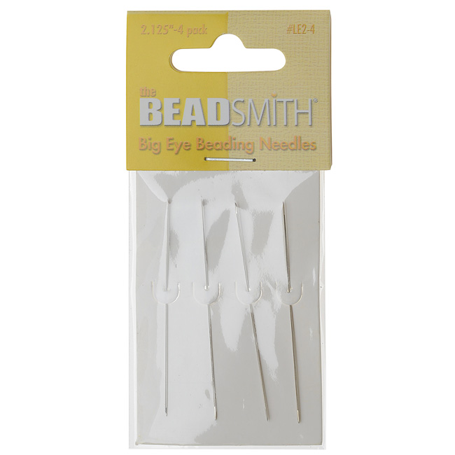 The Beadsmith Big Eye Beading Needles 2.125 Inches Long - Pack Of 4