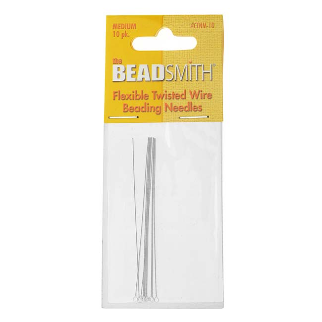 The Beadsmith Beading Needles Flexible Twisted Medium (10)