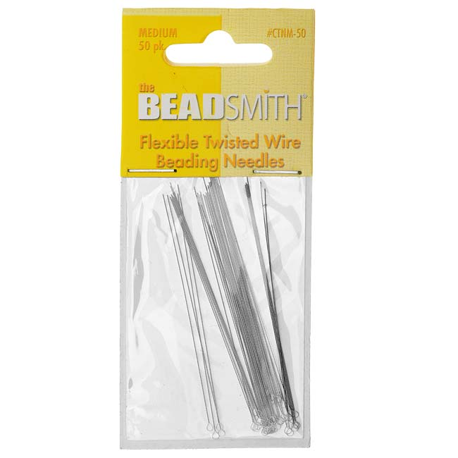 The Beadsmith Beading Needles Medium Flexible Twisted (50!)