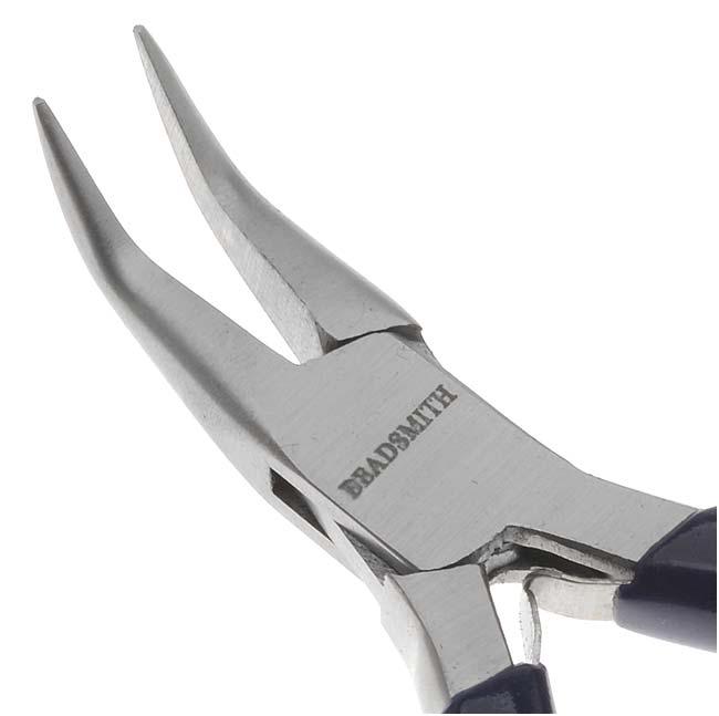 The Beadsmith Jeweller's Micro Pliers Bentnose Bent Nose
