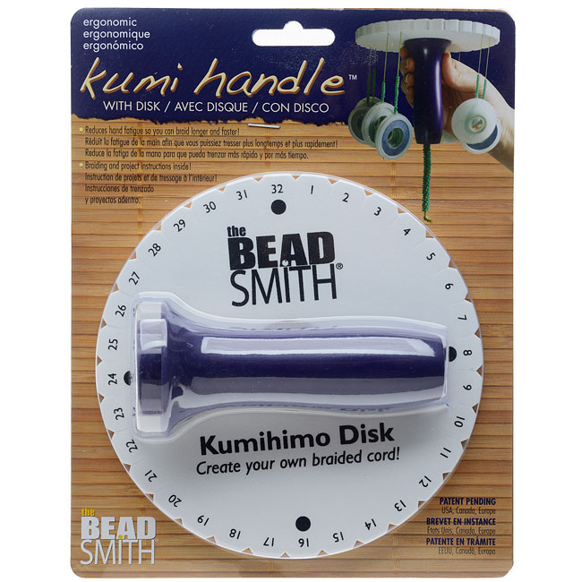 The Beadsmith Ergonomic Kumi Handle With Disk, Reduces Hand Fatigue