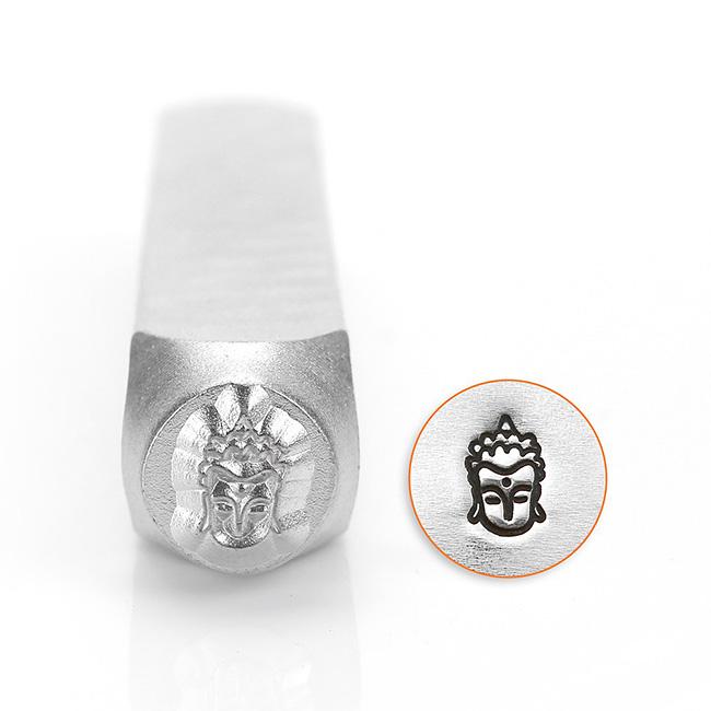 ImpressArt Metal Punch Stamp, Buddha Head 6mm (1/4 Inch), 1 Piece, Steel