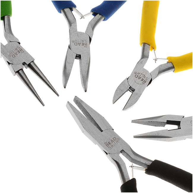The Beadsmith Deal! Jewelry Beading Color I.D. Economy Pliers 5 Piece Set!