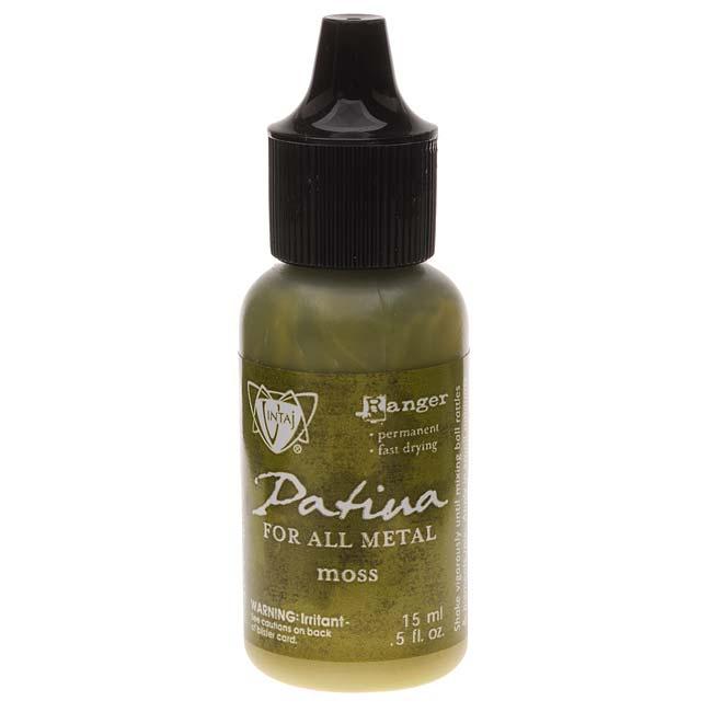 Vintaj Patina Opaque Permanent Ink - Moss Green - 0.5 Ounce Bottle