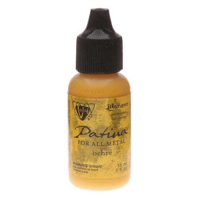 Vintaj Patina Opaque Permanent Ink - Yellow Ochre - 0.5 Ounce Bottle