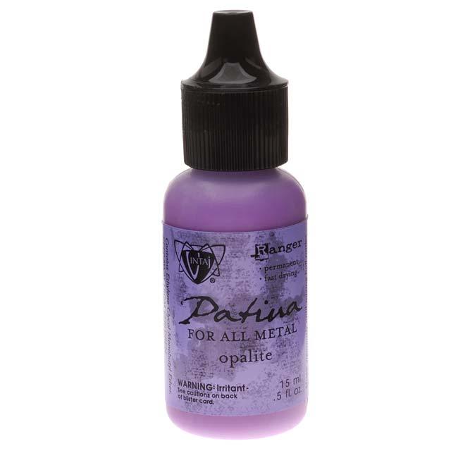 Vintaj Patina Opaque Permanent Ink - Purple Opalite - 0.5 Ounce Bottle