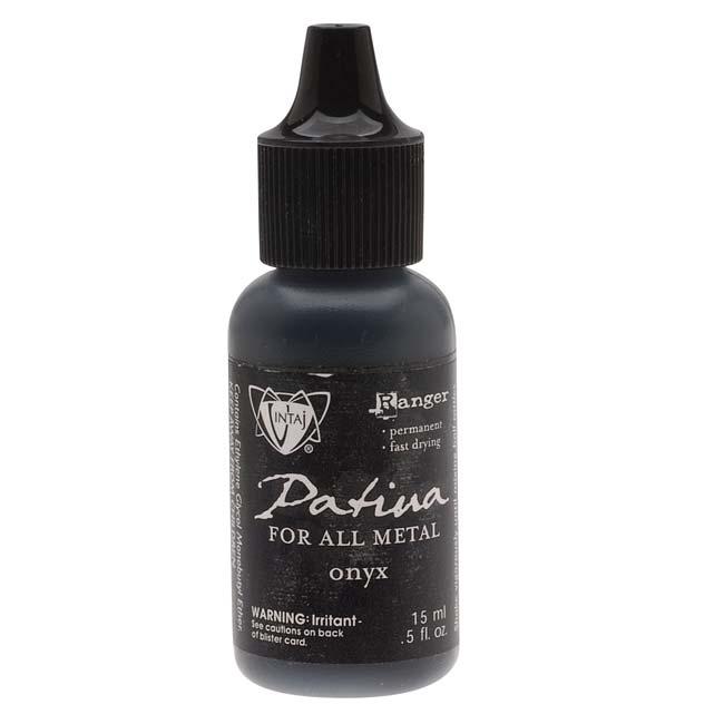 Vintaj Patina Opaque Permanent Ink - Black Onyx - 0.5 Ounce Bottle