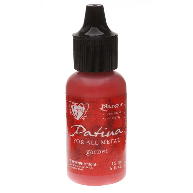 Vintaj Patina Opaque Permanent Ink - Garnet Red - 0.5 Ounce Bottle