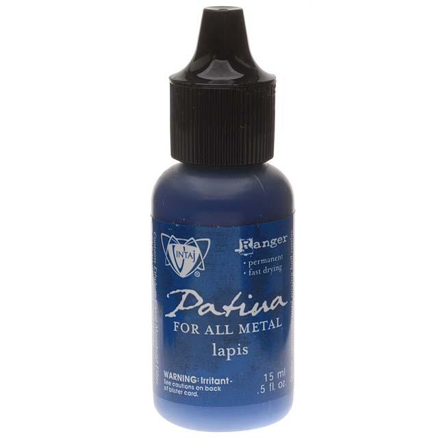 Vintaj Patina Opaque Permanent Ink - Blue Lapis - 0.5 Ounce Bottle