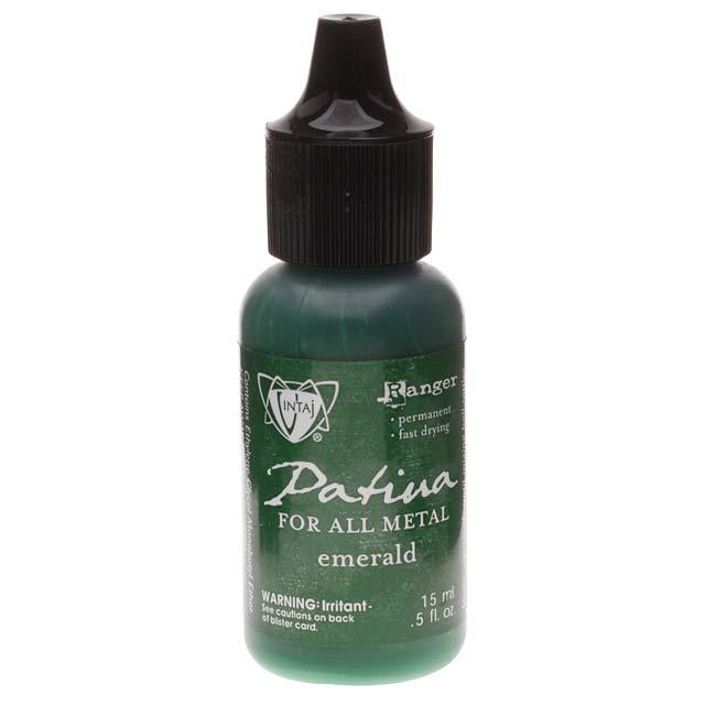 Vintaj Patina Opaque Permanent Ink - Emerald Green - 0.5 Ounce Bottle