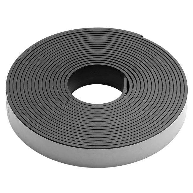 Final Sale - Craft And Hobby Peel And Stick Rubber Magnetic Tape 1/2 Inch Wide (10 Foot Roll)