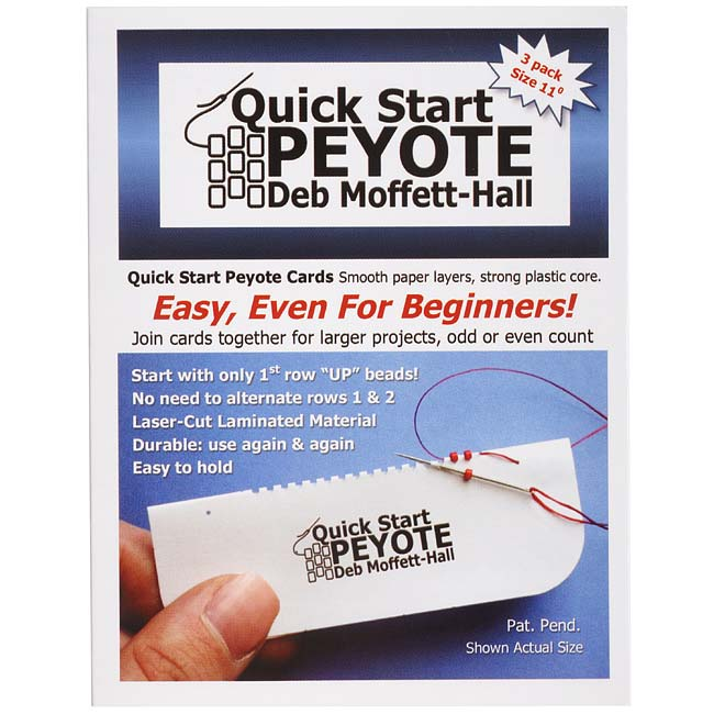 Quick Start Peyote Cards, By Deb Moffet-Hall For 11/0 Seed Beads, 3 Pack